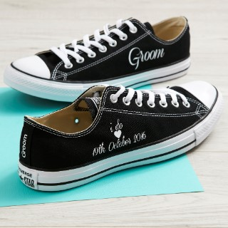 a3d4cb2f9ff6 Rock up the aisle in style with a pair of personalised sneakers by ...