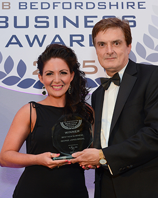 67af2cf4ce2 We love to celebrate good news so it s a big well done to George James  Bridal for winning the Best New Business at the FSB awards 2015