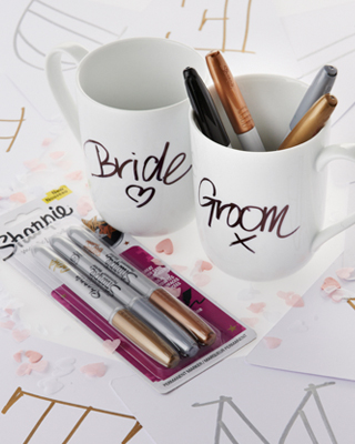 Sharpie's ideas for jazzing up your wedding day!