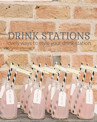 Wedding Drink Stations from The Wedding of my Dreams