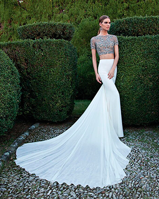 Two-piece wedding dresses make their mark