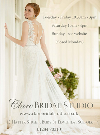 Beautiful new boutique for Clare Bridal Studio